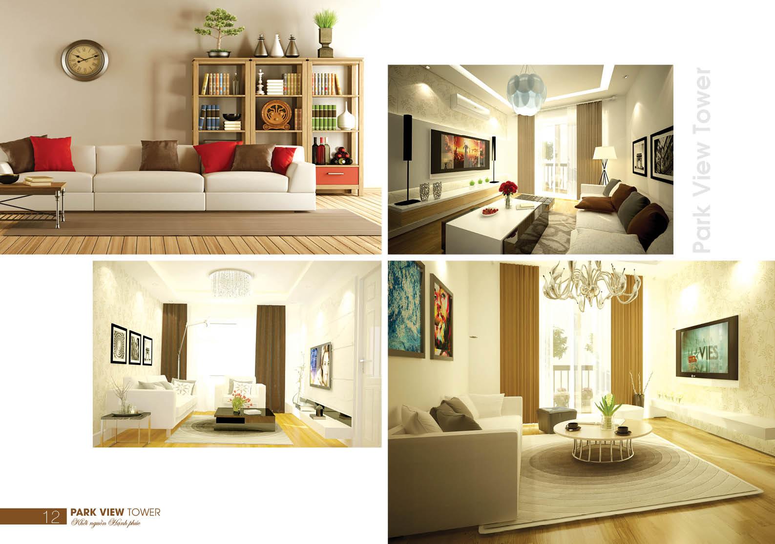 Chung cư Đồng Phát Park View quận Hoàng Mai - Phối cảnh căn hộ