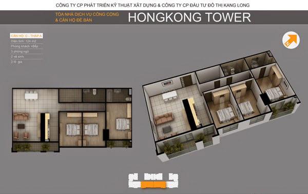 Thiết kế căn hộ C tòa A, Chung cư HongKong Tower 243a La Thành
