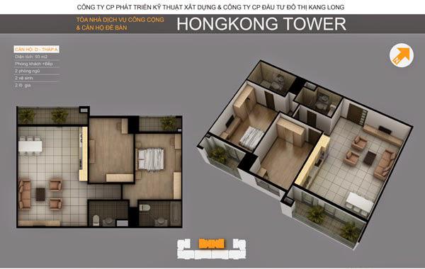 Thiết kế căn hộ D tòa A, Chung cư HongKong Tower