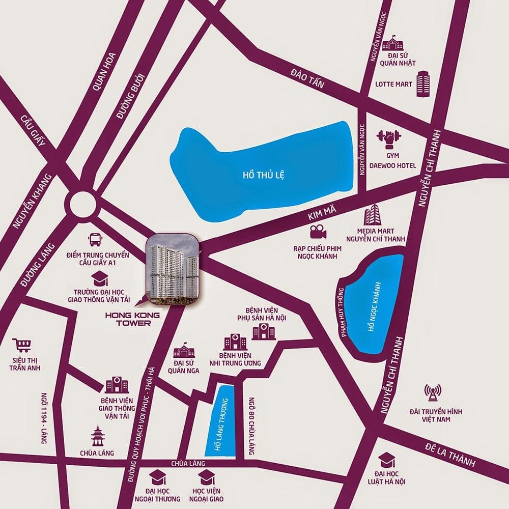 Vị trí chung cư HongKong Tower 243a La Thành
