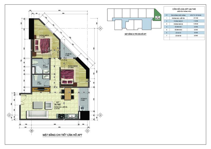 Căn góc 07 tòa A dự án MBLand Central Point chung cư 219 Trung Kính