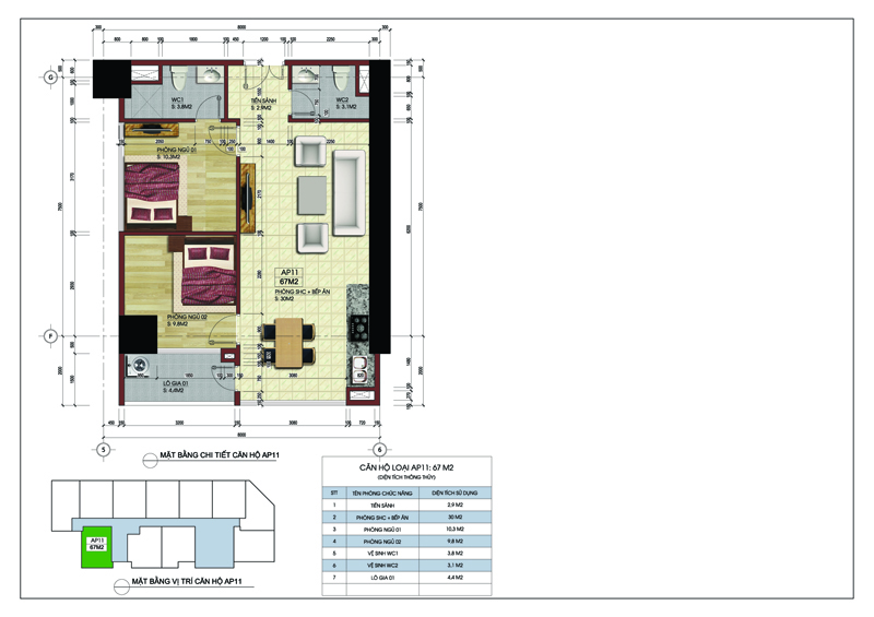 Căn góc 11 tòa A dự án MBLand Central Point chung cư 219 Trung Kính