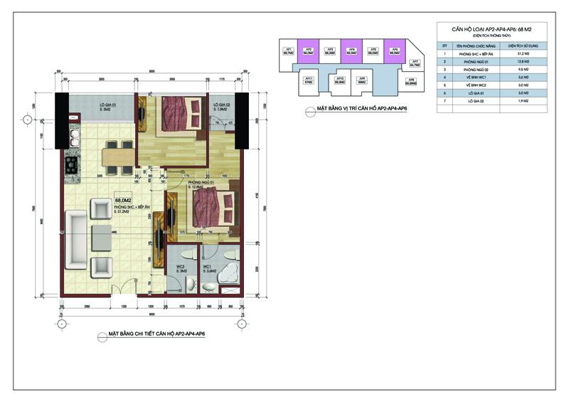 Căn hộ số 02, 04, 06 tòa A dự án MBLand Central Point chung cư 219 Trung Kính