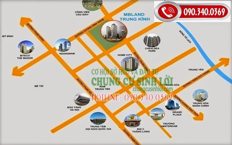 Vị trí - Chung cư 219 Trung Kính quận Cầu Giấy