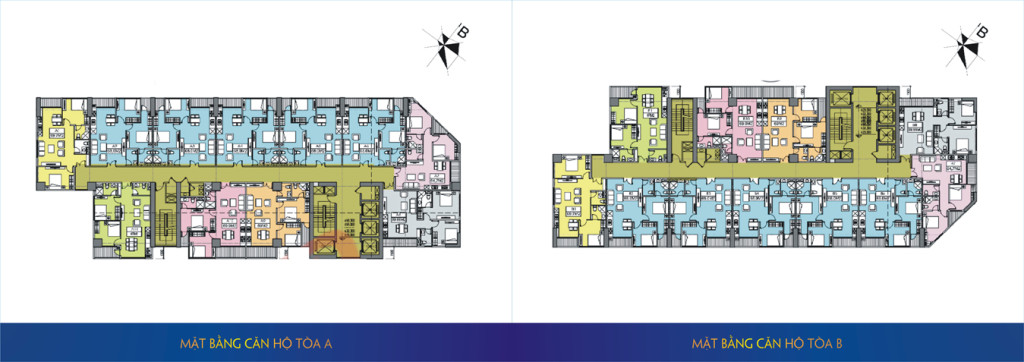 Thiết kế tòa A và tòa B của Chung cư 219 Trung Kính quận Cầu Giấy MBLand Central Point