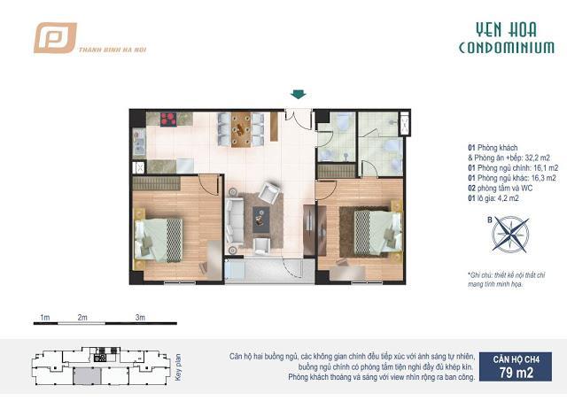 Căn hộ 79m2 chung cư Yên Hòa Condominium 259 Yên Hòa