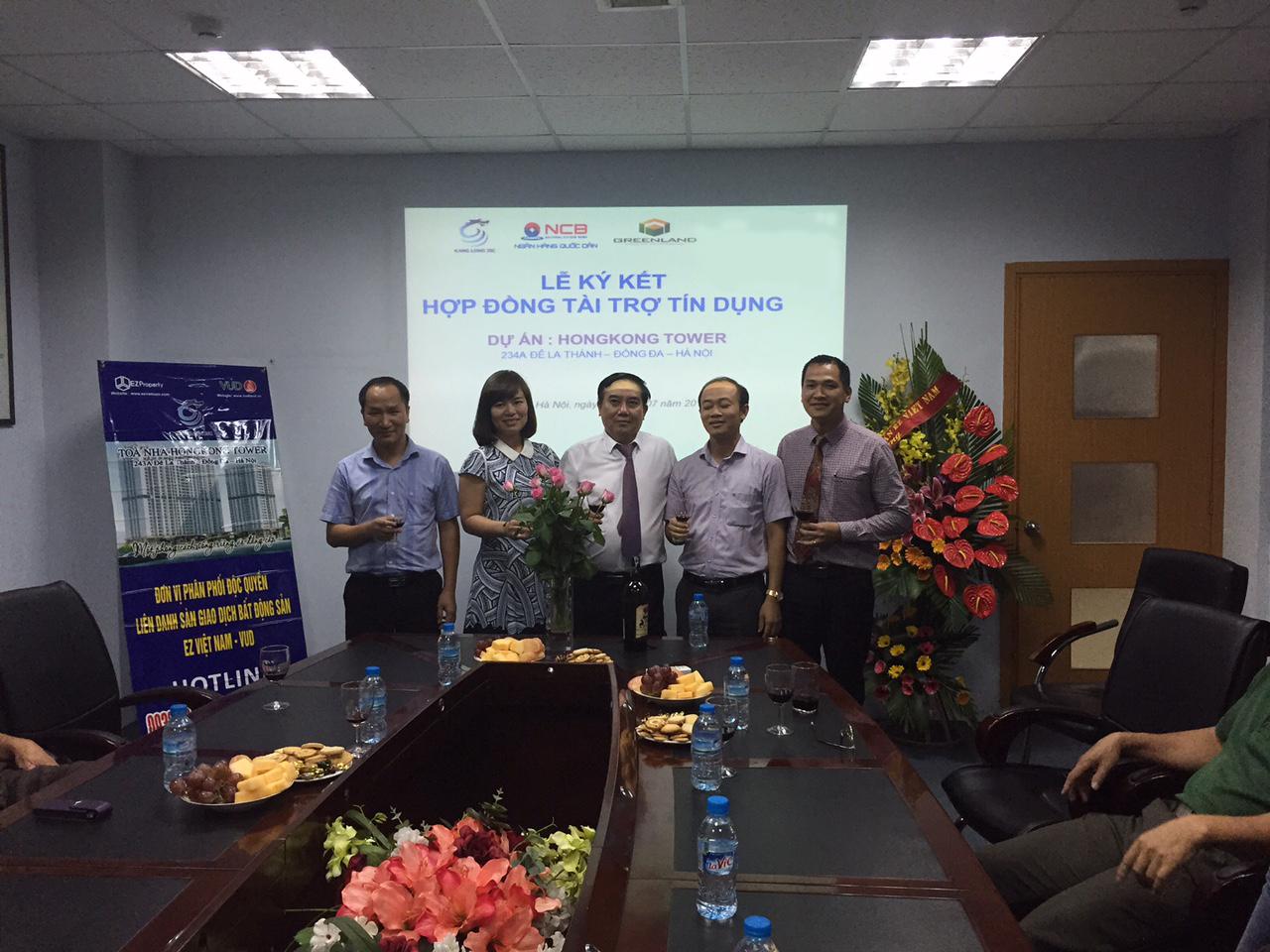 Lễ ký kết hợp đồng tín dụng tài trợ dự án chung cư hongkong tower