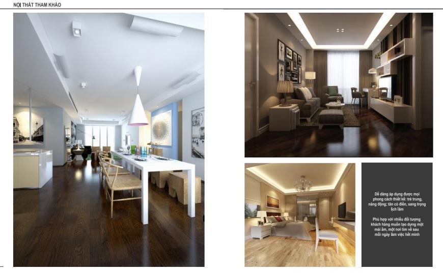 Hình ảnh thiết kế nội thất tại chung cư Yên Hòa Condominium