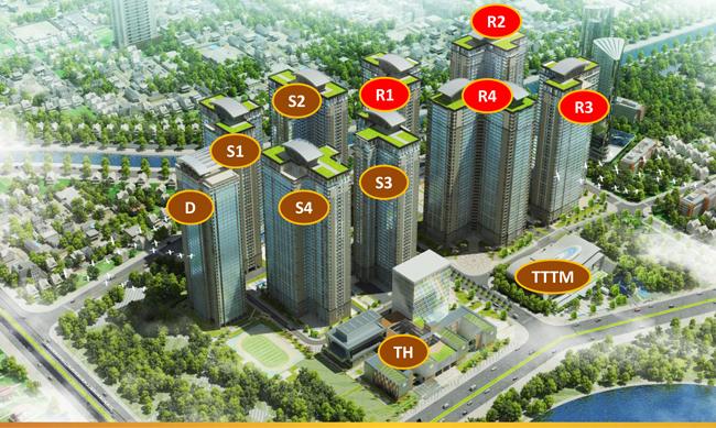 Tổng quan các tòa căn hộ, trung tâm thương mại, dịch vụ bên trong Goldmark City