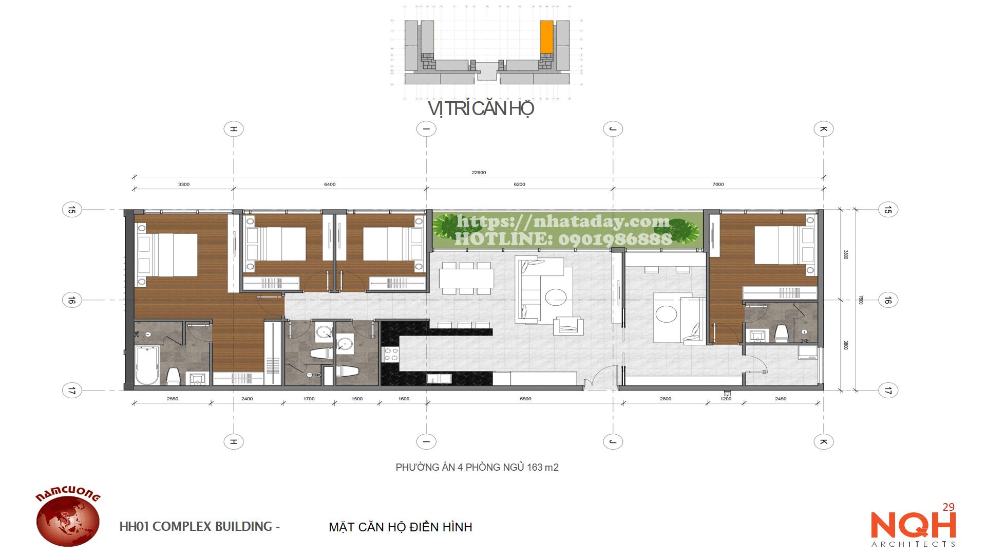 Thiết kế căn hộ 163m2 Chung cư Anland Complex Building Nam Cường Dương Nội
