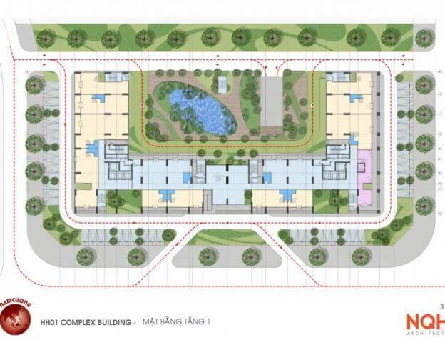 Mặt bằng thiết kế chung cư AnLand HH01 Complex Building Nam Cường Dương Nội