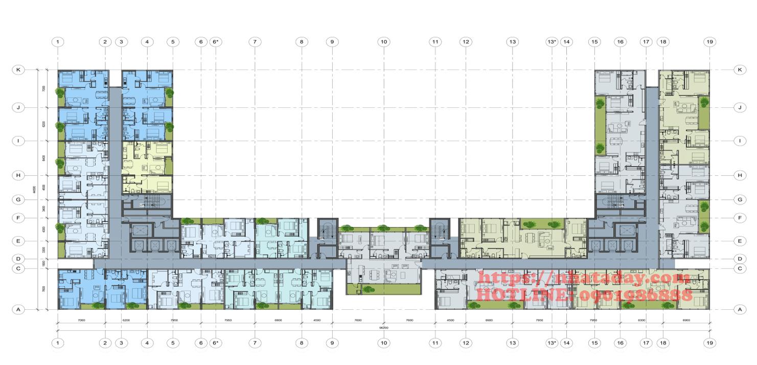 Thiết kế mặt bằng tầng 25 Chung cư Anland Complex Building Nam Cường Dương Nội
