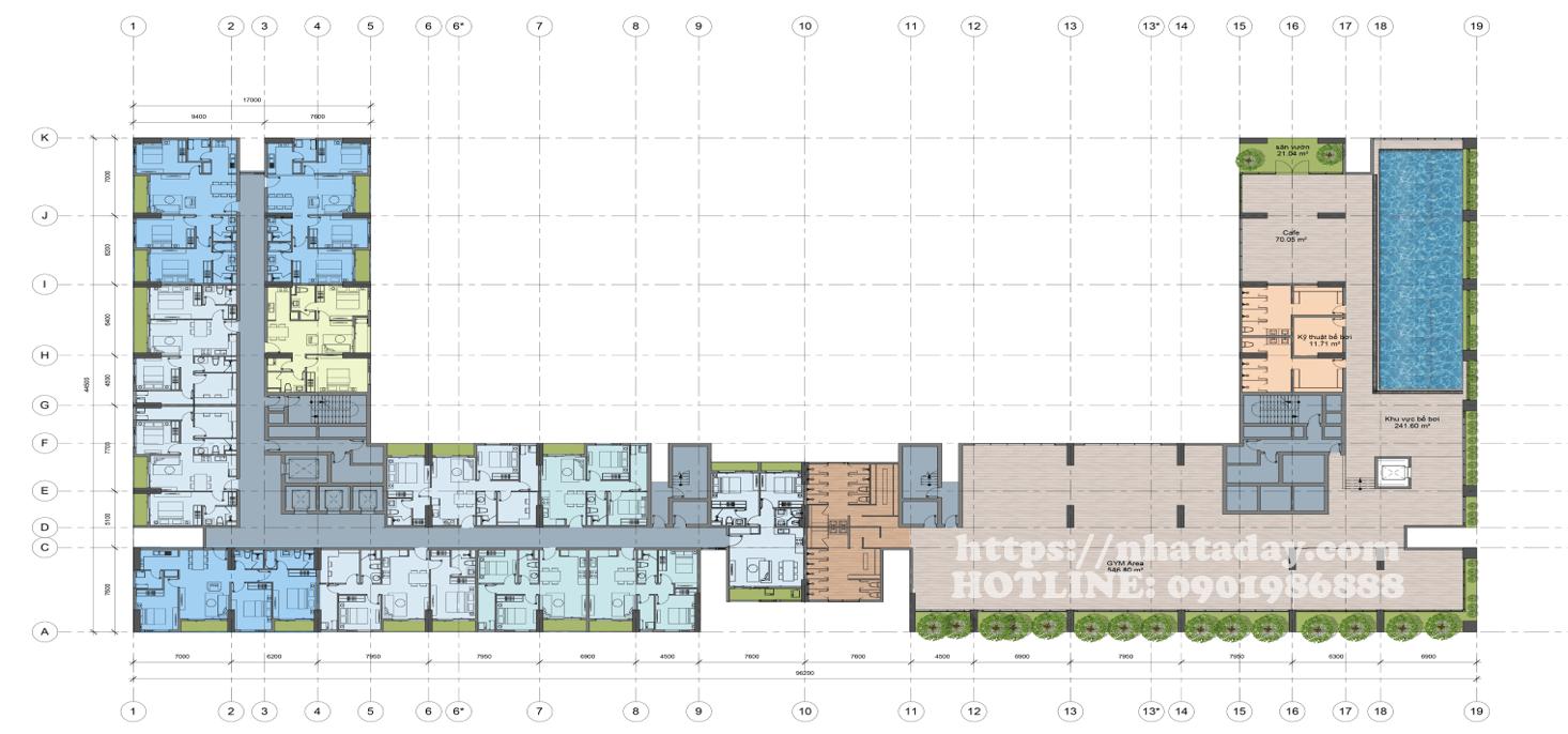 Thiết kế mặt bằng tầng 3 Chung cư Anland Complex Building Nam Cường Dương Nội
