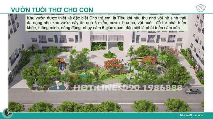 Phối cảnh vườn trẻ thơ cho con tại chung cư Anland Complex Building