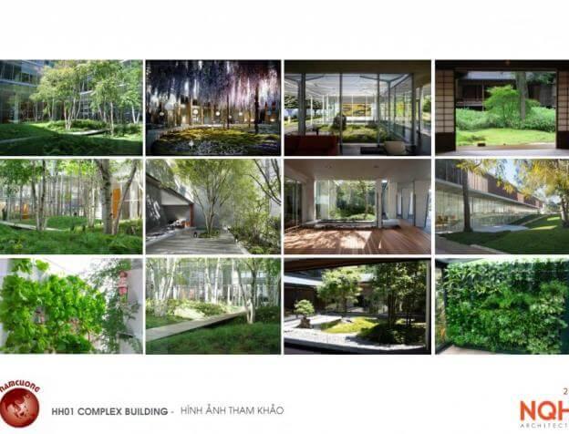 Không gian xanh tại chung cư AnLand Nam Cường